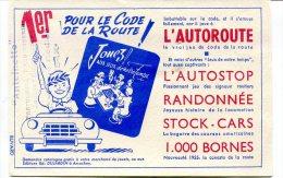 1 Buvard Jeux Pour Le Code De La Route : 1000 Bornes - Thèmes : Voiture, Jeux - Buvards, Protège-cahiers Illustrés