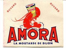 Buvard AMORA - Thème Homard, Moutarde - Mostard