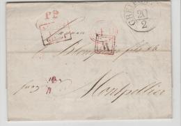 Mes005 / Greifswald  PP 1830 Nach Montpellier Brief Mit Vollem Textinhalt - Mecklenburg-Schwerin