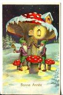 Bonne Année De Belgique - Lutins Sous Amanite Tue Mouche Transformée En Maison - Nouvel An