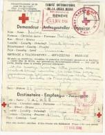 1944 - MESSAGE TRANSMIS VIA La CROIX-ROUGE De GENEVE (SUISSE) De STE MARIE Du ZIT (TUNISIE) Pour CERILLY (ALLIER) - Guerra De 1939-45