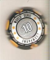 CAPSULE DE MUSELET CHAMPAGNE GENERIQUE WORLD SERIE 10 AU VERSO 6 DE CARREAU - Non Classés