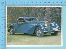 Bugatti Typ 57 Atalante, 1937 - Old Luxury Car Vieille Auto De Luxe - 2 Scans - Voitures De Tourisme