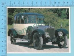 Lanchester 40 HP Saloon, 1919 - Old Luxury Car Vieille Auto De Luxe - 2 Scans - Voitures De Tourisme