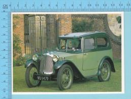 Austin 7hp Swallow Saloon, 1929 - Old Luxury Car Vieille Auto De Luxe - 2 Scans - Voitures De Tourisme