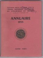 Ecole Nationale De Céramique De Sèvres -Anciens élèves -  Annuaire 1955 - Otros