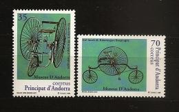 Andorre Espagnol Andorra 1999 N° 253 / 4 ** Musée, Tricycles, Vélo, Vélocipède, Roue, Pédalier, Phare, Direction, Chaine - Neufs