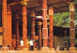 AFRIQUE NOIRE - GABON - LIBREVILLE Façade Eglise St Michel ( N'Kembo ) CPSM Dentelée Colorisée GF 1980 - Black Africa - Gabon
