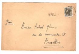 TP 401s/L.c.Gent En 1936  + Griffe Melle V.Bruxelles PR2864 - Postmark Collection
