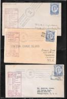TONGA 1934- Canoe Mail-lot Of 3 Covers  (Ref 200) - Tonga