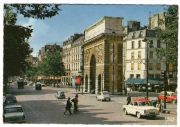 CPM  75    PARIS      LA PORTE SAINT MARTIN     GRANDS BOULEVARDS   CAFE BRASSERIE  HOTEL DELICES - Autres