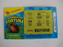 Loterie/ Lottery/ Loteria/Lotaria Instant Instantânia Raspadinha Jogo Nº 261 Joaninha Da Fortuna Portugal - Billets De Loterie