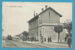 CPA 9 - Chemin De Fer Arrivée Du Train En Gare De CASTILLON 30 - Frankrijk