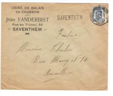 TP 426 S/L.com.c.Bruxelles Nord 1936 + Griffe Saventhem V.Bruxelles PR2868 - Postmark Collection