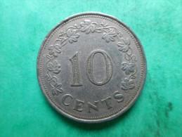 Malta 10 Cents 1972 - Malte