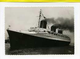 Compagnie Generale Transatlantique. Normandie. Depart Pour New York.   Tito - Paquebote