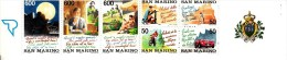 San Marino Booklet Scott #1262a Pane Of 7 Tourism: Crossbowman, Tennis, Motorcycle, Race Car, Couple, Man, Woman - Carnets