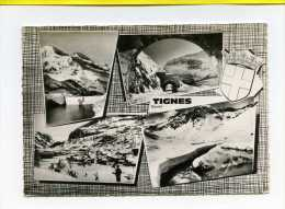 Tignes. Multivues Blason. Edit Cim N° LU 3 Postée 1966 - Altri Comuni