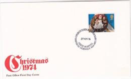 1974 GB FDC CHRISTMAS Stamps SPECIAL Pmk ST HELENS CHURCH HOSPITAL 750th ANNIV Cover Medicine Health Religion - Christmas