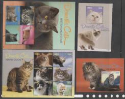 LIBERIA,2014,  MNH,CATS,  SHEETLETS + 2 S/SHEETS - Chats Domestiques