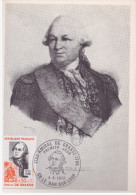 FDC Carte Postale - 1972 - Amiral De Grasse - Le Bar Sur Loup (06) - Cartas Máxima