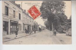 RT28.775  LOIR-ET-CHER. BOURRE .AVENUE DE LA GARE.TABAC CAFE. RESTAURANT. - France