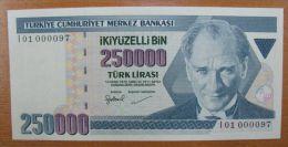 AC - TURKEY - 7th EMISSION 250 000 TL I 01 000 097 UNCIRCULATED - Turkije