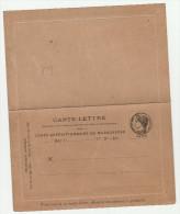 CLFM Madagascar 1895 - Carte-lettre En Franchise Du Corps Expéditionnaire - !! Légères Traces De Pli - Storia Postale