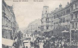 Brasil Rio De Janeiro - Avenida Rio Branco (top Animation, 1919) - Rio De Janeiro