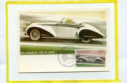 Delahaye 135M  1940  Premier Jour  1975  Monaco .  Theme Automobile - PKW