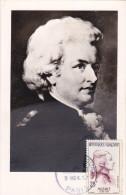 Carte Maximum FRANCE N°Yvert 1137 (MOZART) Obl Sp 1er Jour (Ed Noyer Pt Ft) - 1950-59