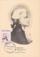 Carte Maximum FRANCE N°Yvert 1137 (MOZART) Obl Sp 1er Jour (Ed PR) - 1950-59
