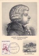 Carte Maximum FRANCE N°Yvert 1137 (MOZART) Obl Sp 1er Jour (Ed Bourg) - 1950-59