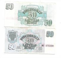 Lettland  LATVIA  Lettonia 1992  - 50  ROUBLE  CIRC -  VF + - Latvia