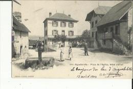 Aiguebelette  73_Carte Convoyeur-( Chambery A St André-le-Gaz ) La Pace De L'Eglise Animée-La Fontaine Et Hotel Jullian - France