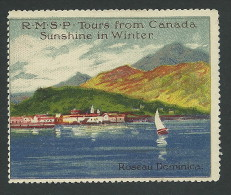 C2-40 CANADA RMSP Cruise Ship Roseau Dominica MHR - Local, Strike, Seals & Cinderellas