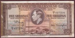 Bermuda Government 5 Shillings 1937 King George VI. - Bermudes