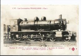 Les Locomotives Française C 87 Est - Machine 230372 Pour Trains De Voyageurs - Cpa Fleury - Steam Engine - Matériel