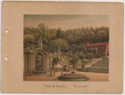 Portugal - Braga - Lembrança Do Real Santuario Do Bom Jesus Do Monte - Vista Da Cascata - La Cascade - 1900 Old Print - Non Classés