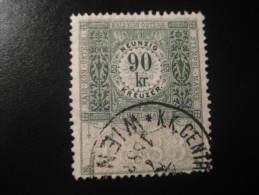 1883 Wien 90 Kr Kais Kon Osterr Stempel Marke Revenue Fiscal Tax Postage Due Official Austria - Steuermarken