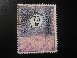 1893 75 Kr Kais Kon Osterr Stempel Marke Revenue Fiscal Tax Postage Due Official Austria - Steuermarken