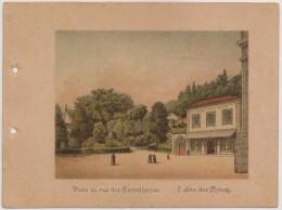 Portugal - Braga - Lembrança Do Real Santuario Do Bom Jesus Do Monte - Vista Da Rua Das Carvalheiras - 1900 Old Print - Non Classés
