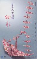 Télécarte Japon / NTT 291-216 - Jeu - ORIGAMI - Cocotte En Papier  - Paper Bird Japan Phonecard - Papier Kunst TK - 64 - Jeux