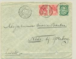 Nederland - 1907 - Grootrond GEESTEREN (GLD) Op Cover Naar Nääs In Zweden - Periode 1891-1948 (Wilhelmina)