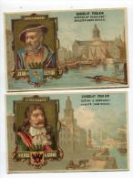 2chromos  Chocolat Poulain Amsterdam Saint Petersburg - Poulain