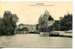 JOSSELIN (56) - Vue Du Château Et De Ste-Croix - Péniche Bois Amarée - Josselin