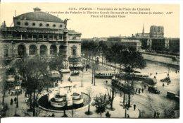PARIS (IVe) - Place Du Chatelet Avec La Fontaine Du Palmier Et Théâtre Sarah-Bernardt - Arrondissement: 06