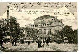 PARIS (IVe) - Place Du Chaterlet Et Théâtre Sarah-Bernhardt - Arrondissement: 04