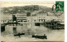SETE (34) - Initialement Cette Jusqu'en 1927 Et Ensuite Sète - Vue Généraler De La Rue Des Postes - Sete (Cette)
