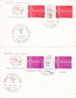 ITALY  1971  EUROPA CEPT FDC Gutter Pair - Europa-CEPT
